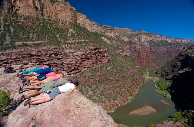Tromp your way along trails for amazing views like this one on the Green River.