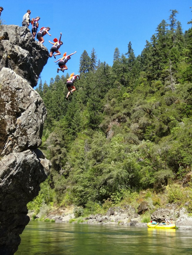 Rogue River Cliff Jumping