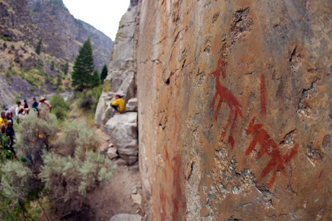 Pictographs on the Middle Fork Salmon River