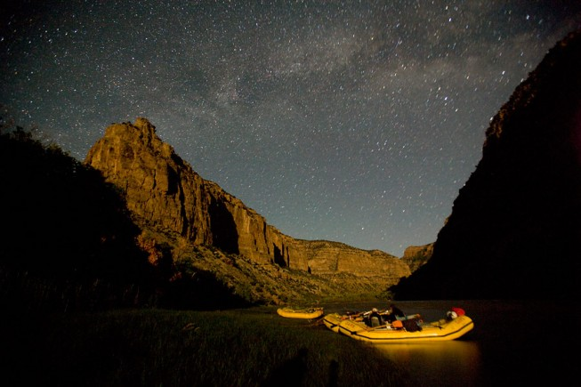 Starry night on the Yampa River