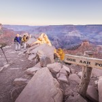 We started hiking on the South Kaibab Trail before dawn. By sunrise we had reached Ooh Aah Point.