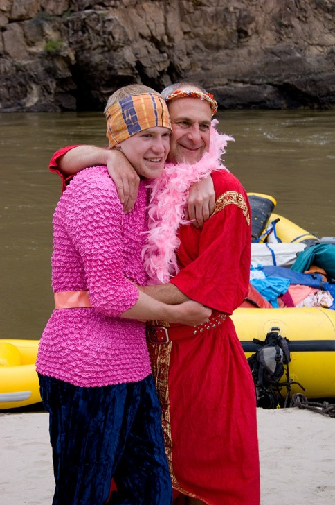 Costumes on an O.A.R.S. rafting trip