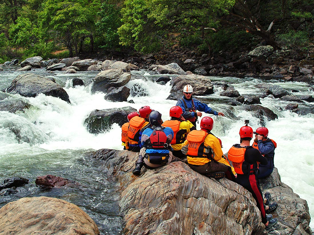 Guiding lesson on the Tuolumne River