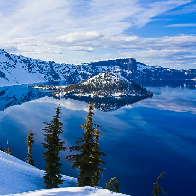 Crater Lake Landscape