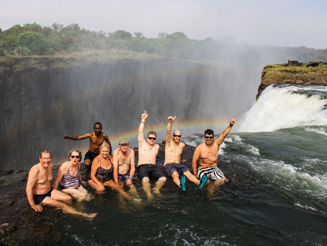 Zambia Waterfall Bath